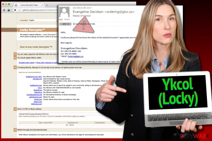Locky virus is now calling itself Ykcol