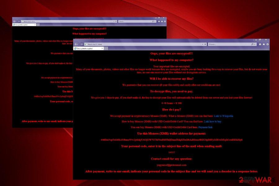 Yogynicof ransomware virus