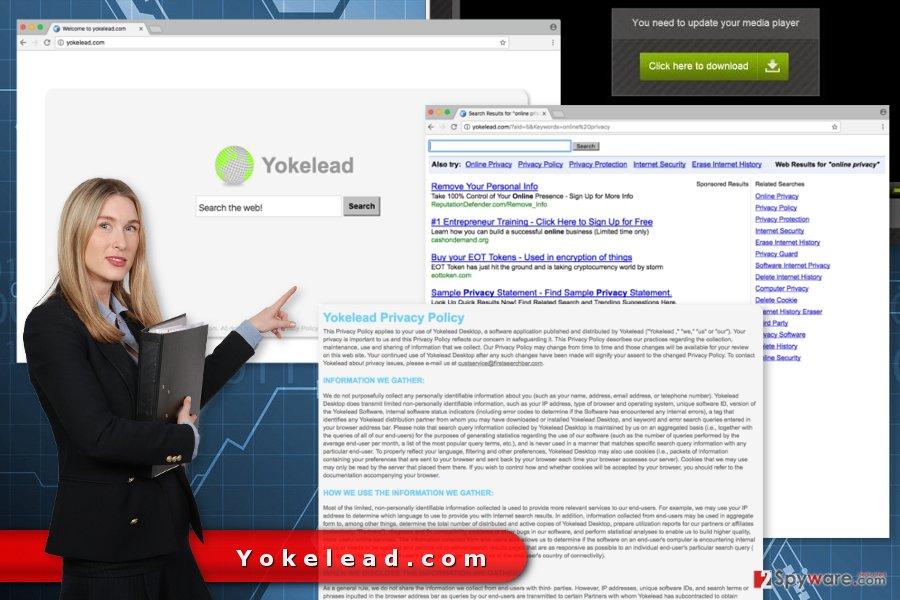 The image of Yokelead.com virus