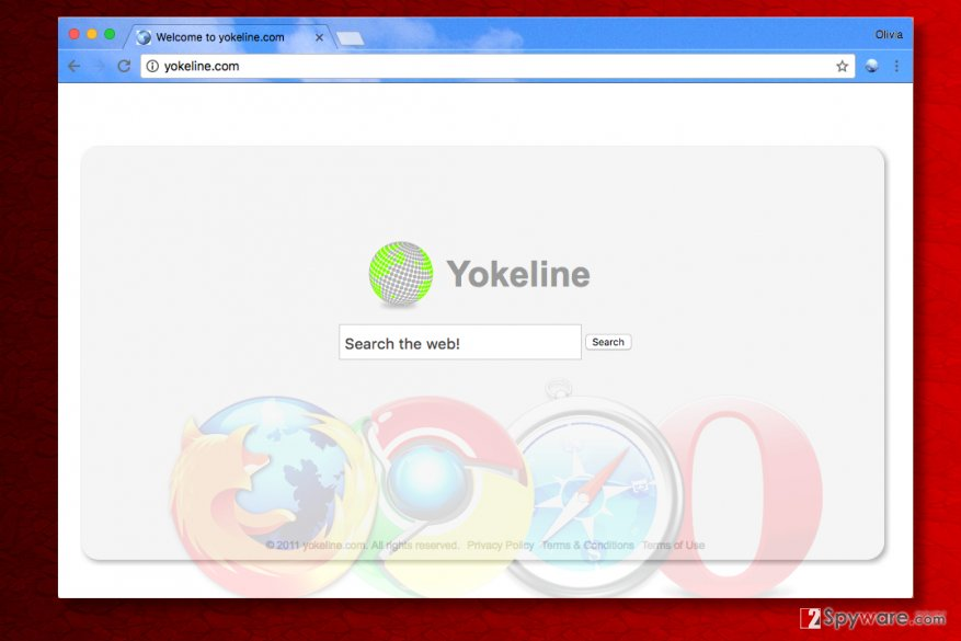 Yokeline.com redirect virus changes homepage