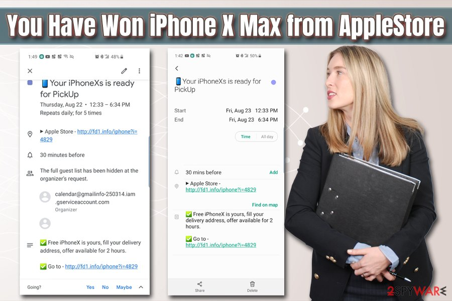 You Have Won iPhone X Max from AppleStore