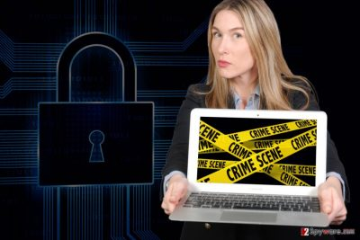 The image of YouAreFucked ransomware virus