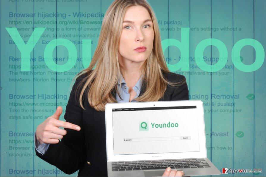 The image displaying youndoo.com
