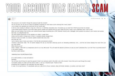 Your account was hacked