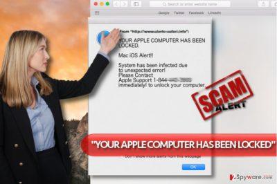 """""""YOUR APPLE COMPUTER HAS BEEN LOCKED"""" virus"""
