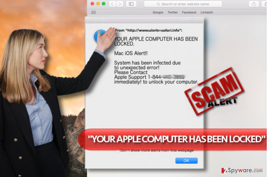 """YOUR APPLE COMPUTER HAS BEEN LOCKED"" virus"