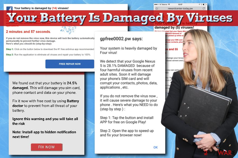 Your Battery Is Damaged By Viruses scam