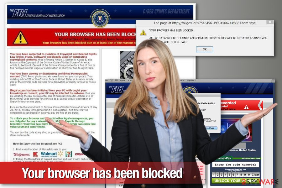 Your browser has been blocked malware