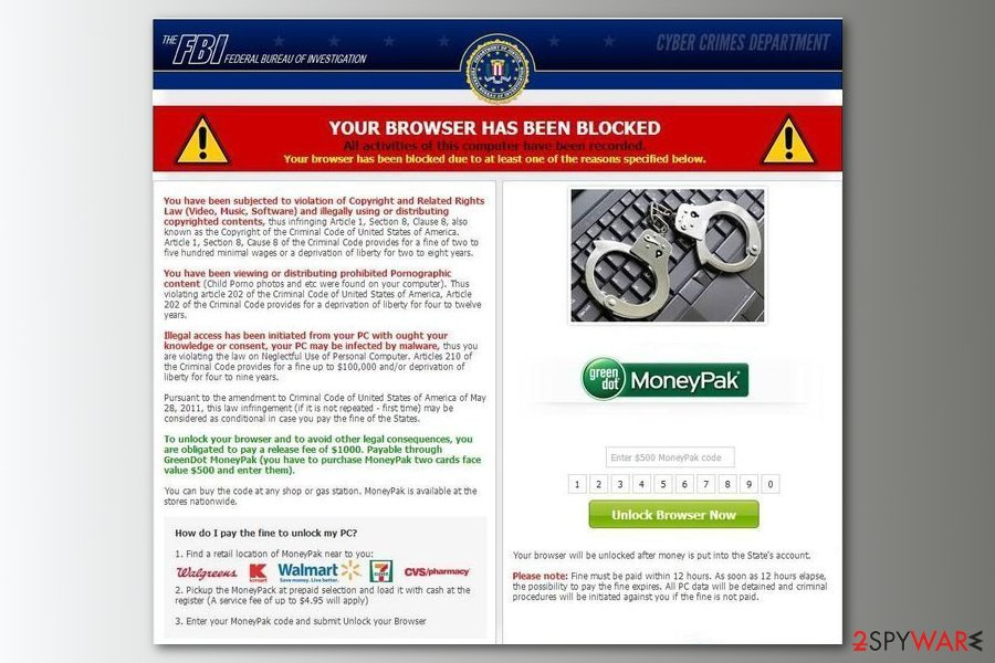 Your browser-has been blocked screenshot