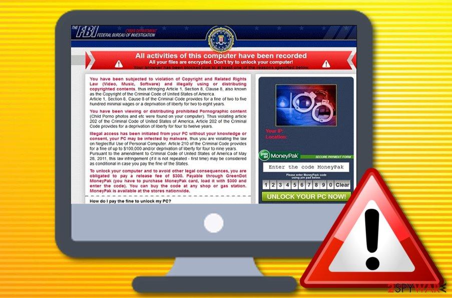 Your browser has been locked virus
