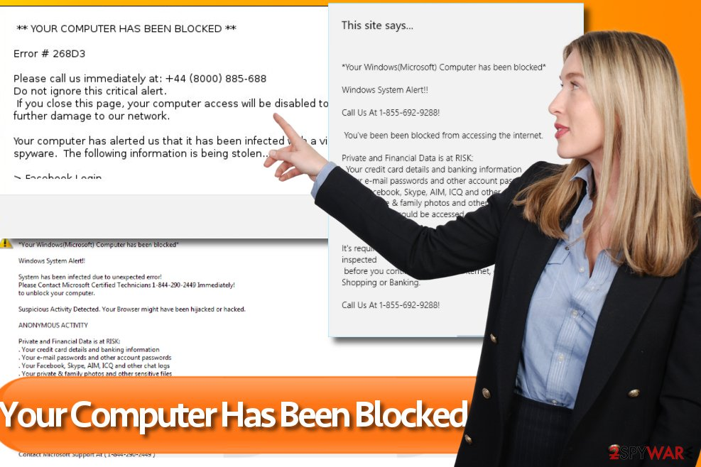 Your Computer Has Been Blocked pop-ups