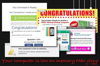 Your computer is low on memory virus