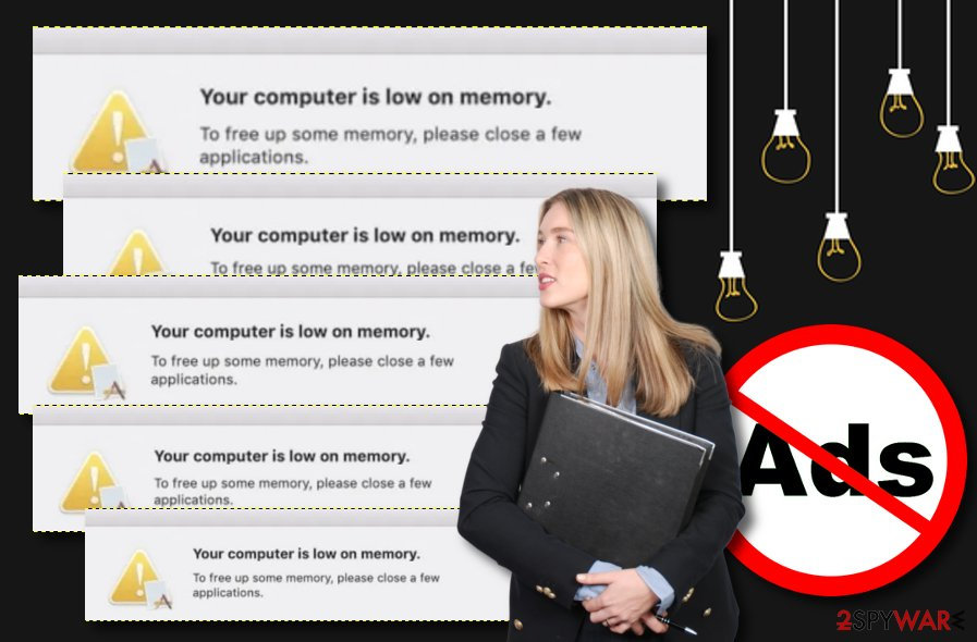 Your computer is low on memory Mac virus