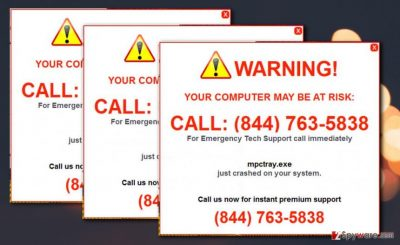 Picture of Your Computer May Be At Risk pop-up ads