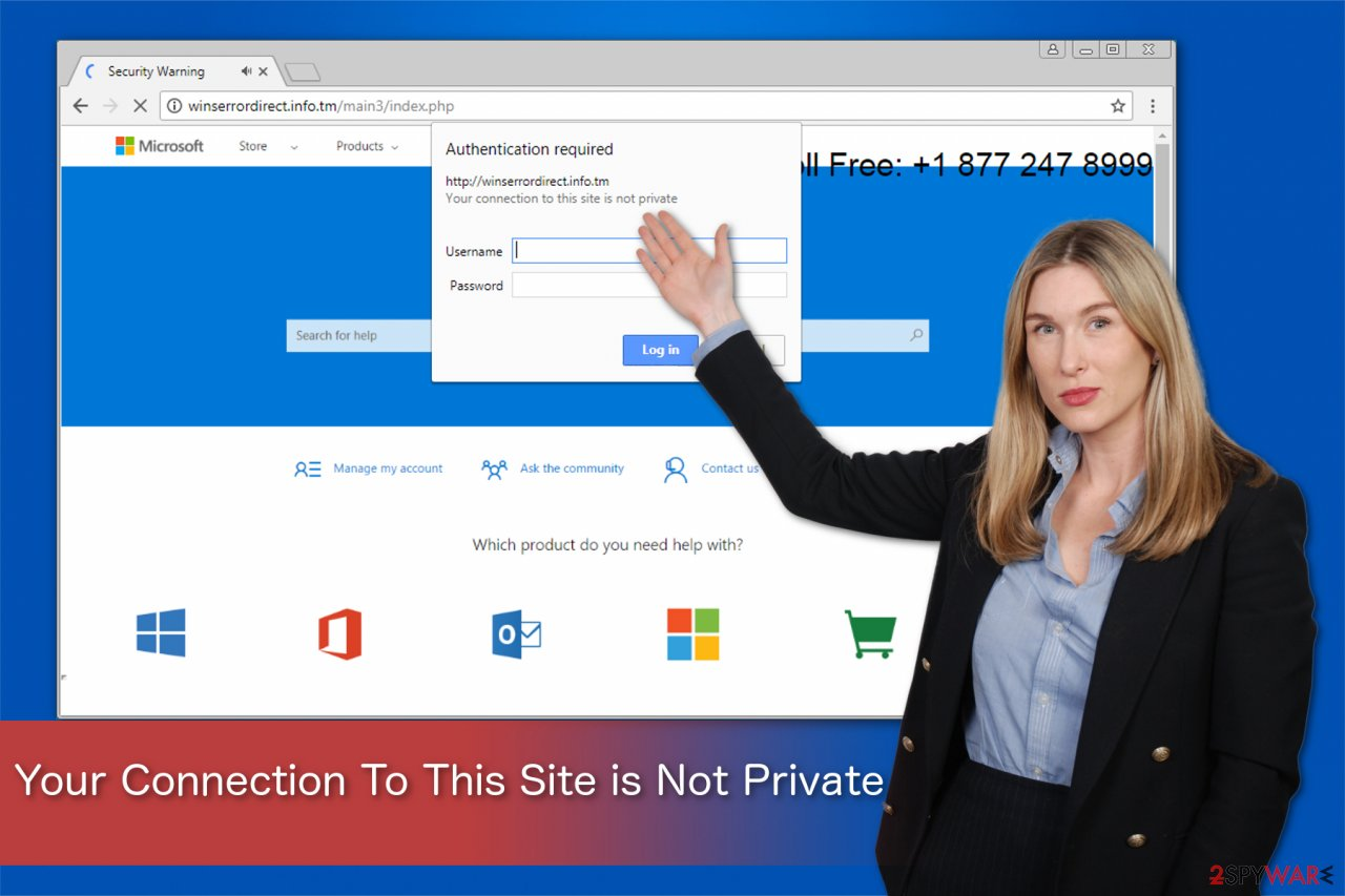 Your Connection To This Site is Not Private illustration