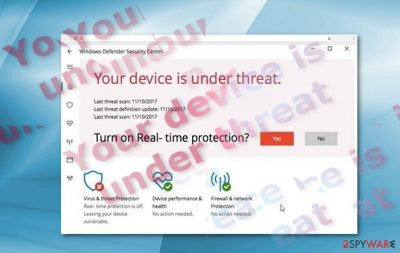 """""""Your Device Is Under Threat"""" sample"""