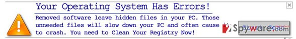 Your Operating System Has Errors! snapshot