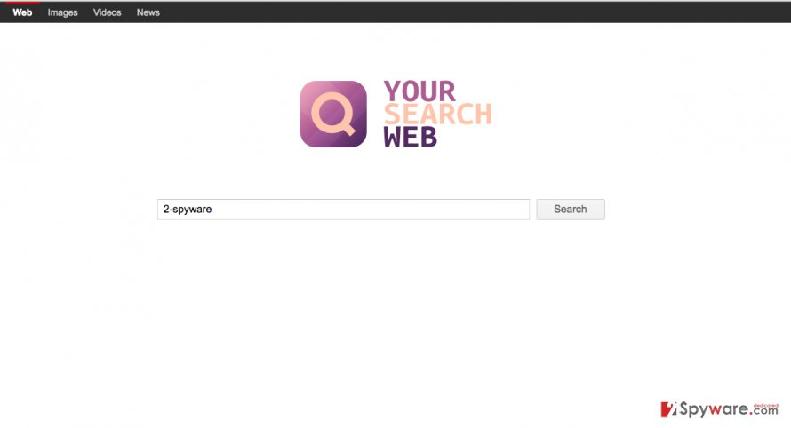 A screenshot of the Your Search Web search engine