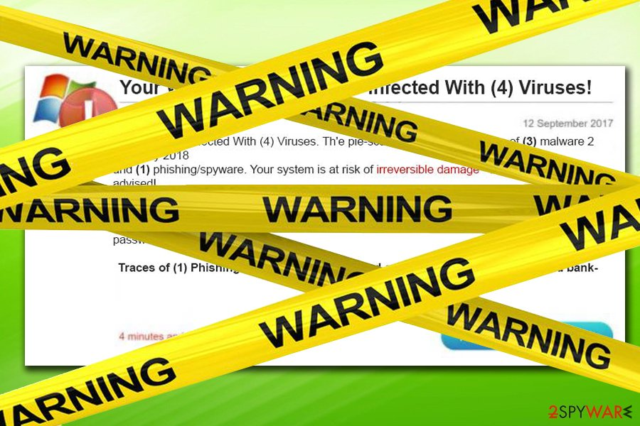 Four virus fake alert warning