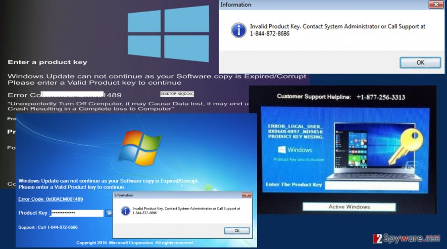 Your Windows Licence has Expired virus image
