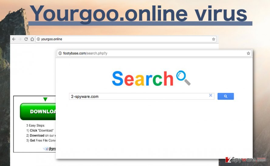 Picture of the Yourgoo.online hijacker