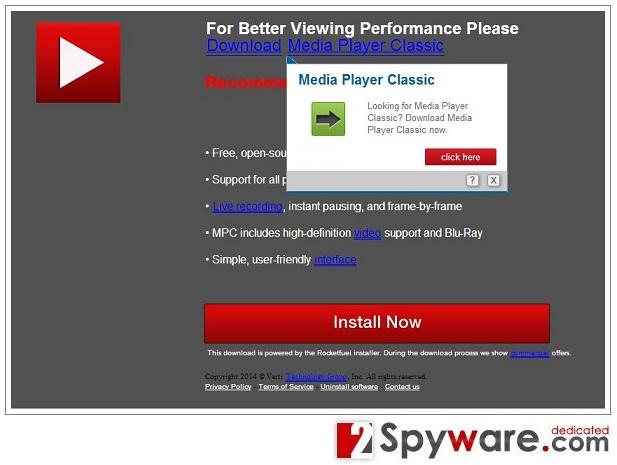 YourInstaller.com pop-up virus snapshot