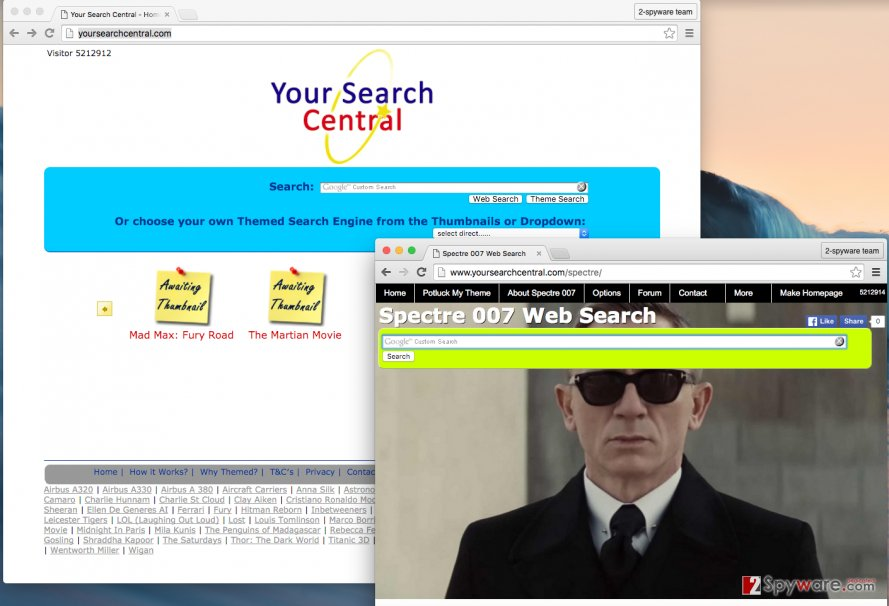 Yoursearchcentral.com redirect virus