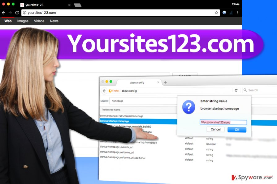 Yoursites123.com redirect virus alters browser's settings