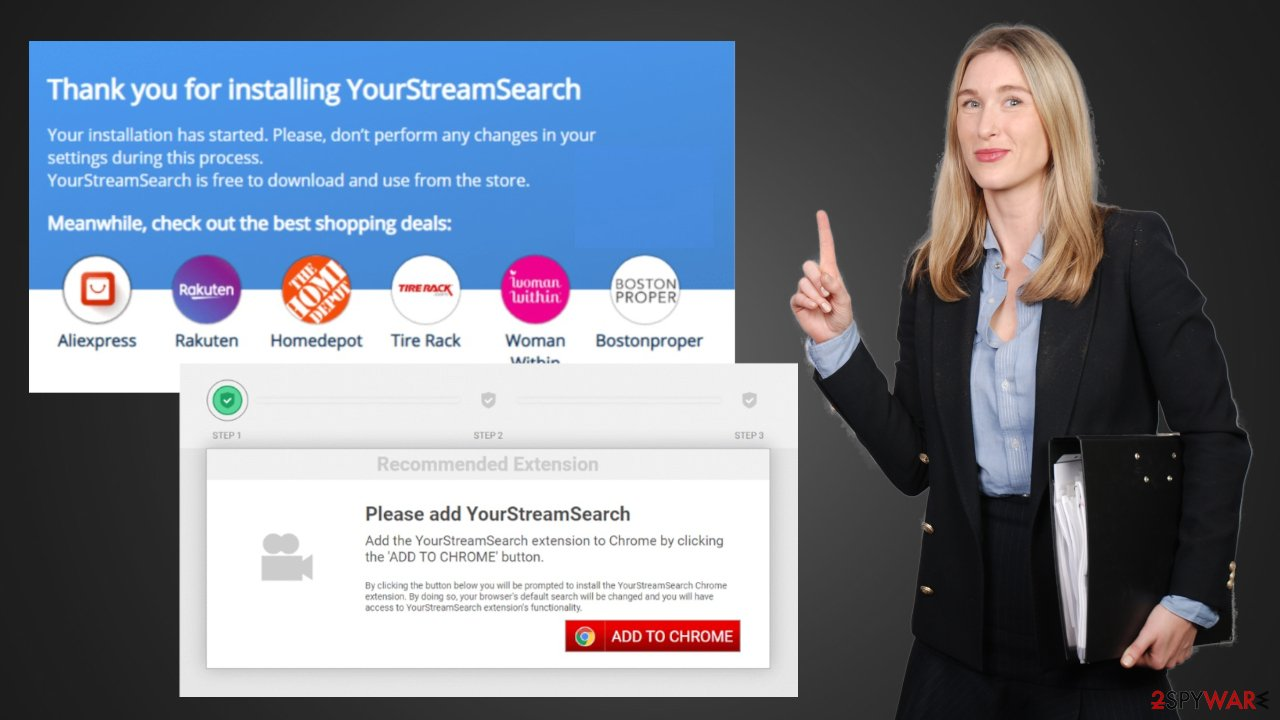 YourStreamSearch redirect
