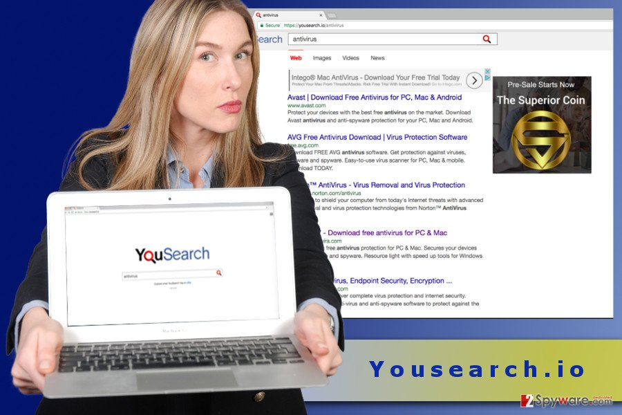 The illustration of Yousearch.io virus