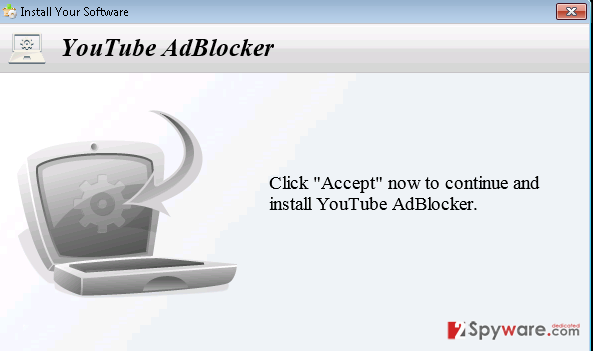 YoutubeAdBlocker adware snapshot