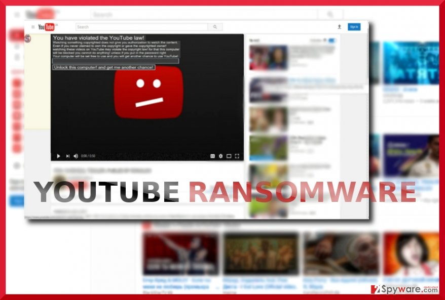 The screenshot of Youtube malware