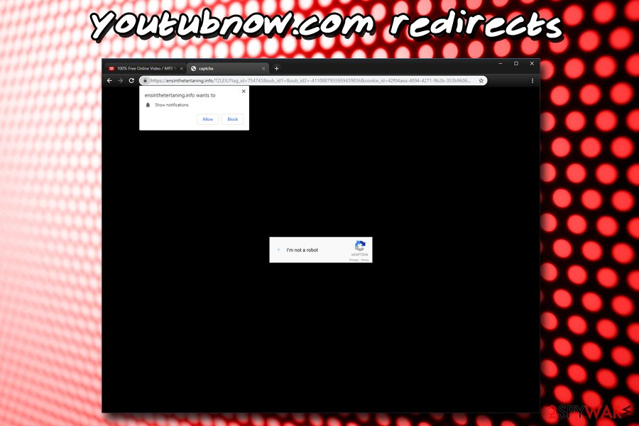 Youtubnow.com push notification virus