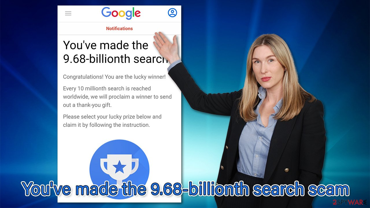You've made the 9.68-billionth search scam virus