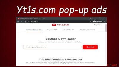Yt1s.com pop-up ads
