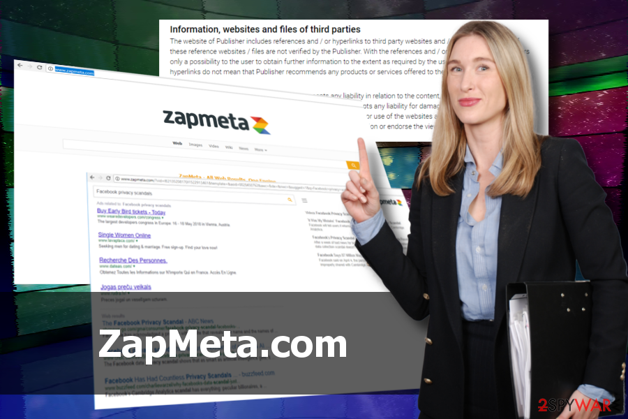 ZapMeta.com virus printscreen