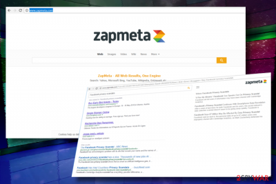 ZapMeta.com redirect virus example