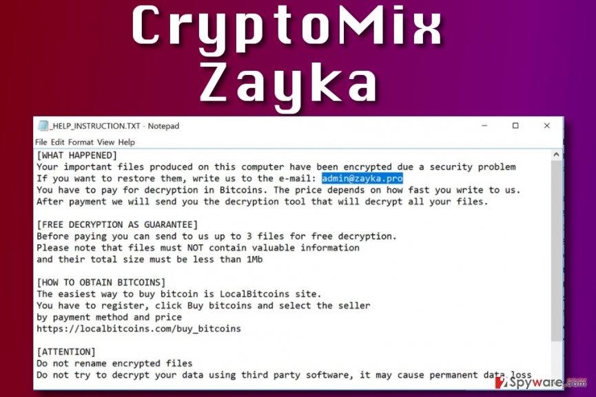 Zayka ransomware virus