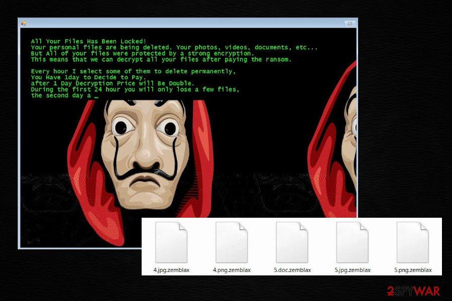 Zemblax Jigsaw ransomware variant