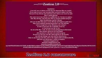Zeoticus 2.0 ransomware