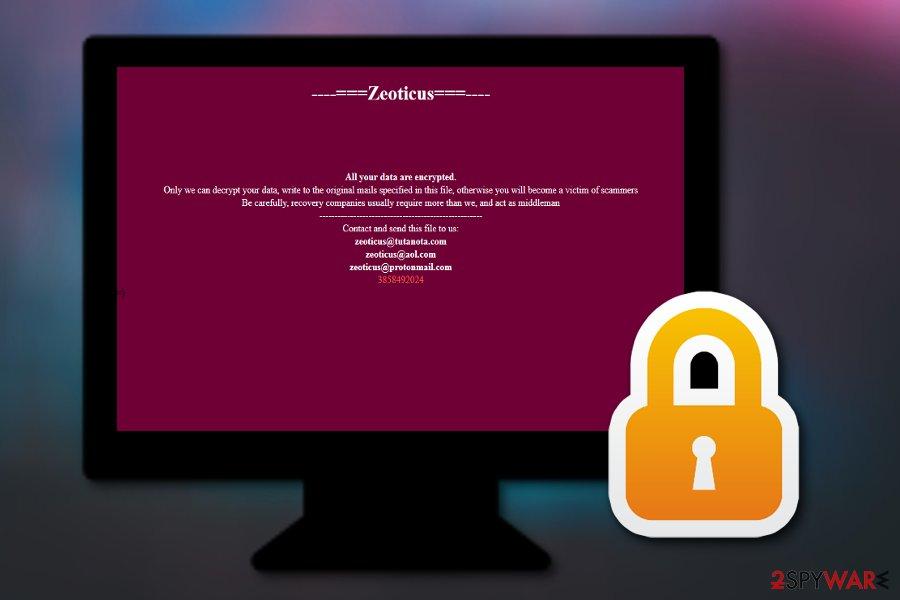 Zeoticus ransomware virus