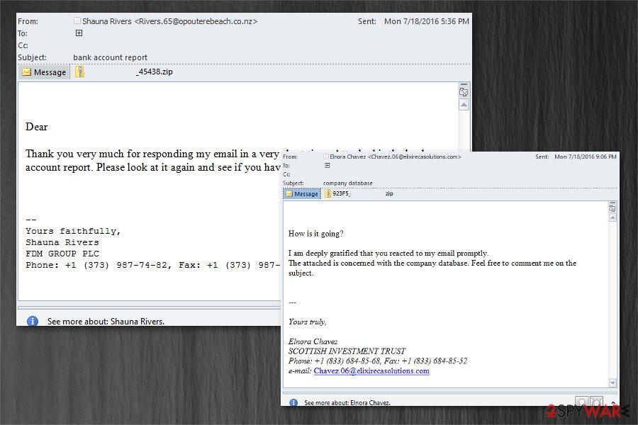 Zepto virus email