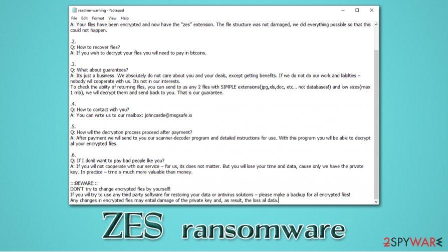 ZES ransomware