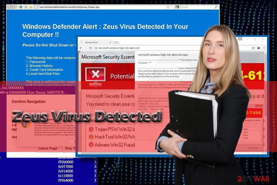 Zeus Virus Detected virus