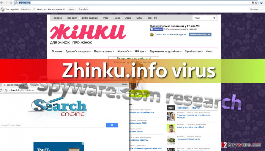 Image of Zhinku.info search engine