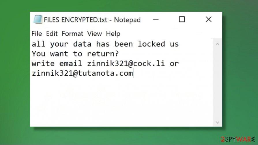 ZIN ransomware virus