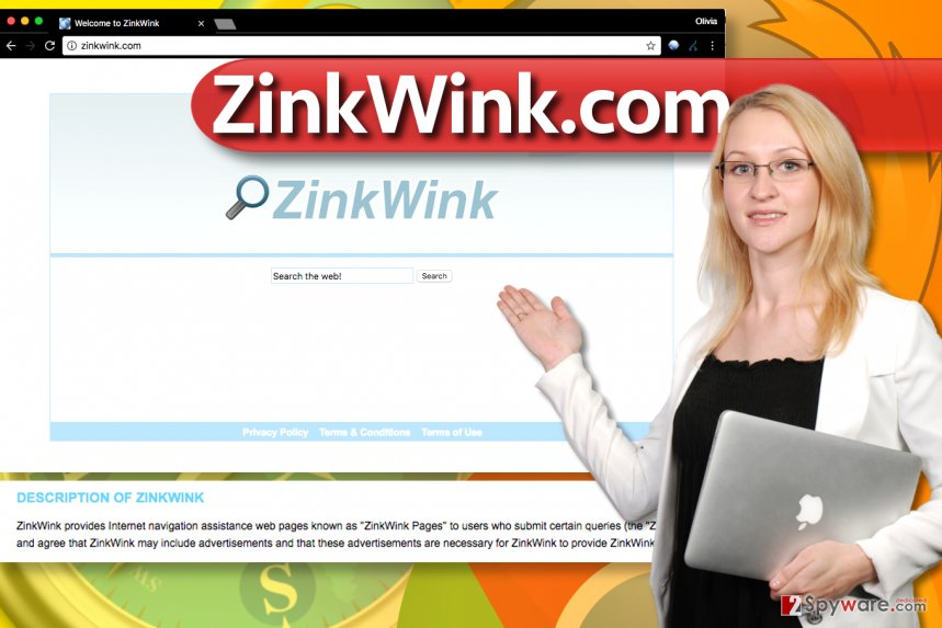 ZinkWink.com browser hijacker