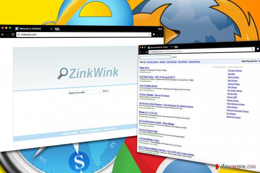 Zinkwink.com virus hijack