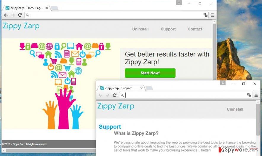 Zippy Zarp scam ads