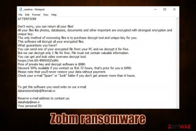 Zobm ransomware